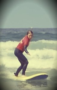 Kirsty Surfing!