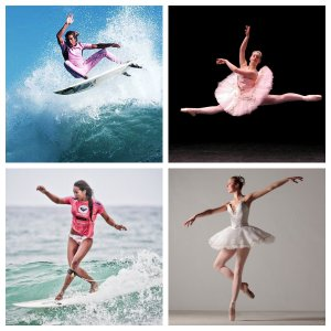 Ballet and surfing
